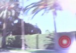 Image of Palm tree lined street in neighborhood Los Angeles California USA, 1976, second 40 stock footage video 65675033263