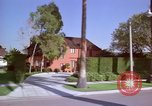 Image of Palm tree lined street in neighborhood Los Angeles California USA, 1976, second 60 stock footage video 65675033263