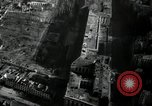 Image of aerial views of damage from WW2 Berlin Germany, 1947, second 36 stock footage video 65675033264
