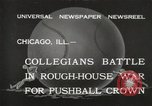 Image of push ball match Chicago Illinois USA, 1932, second 1 stock footage video 65675033275