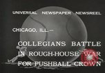 Image of push ball match Chicago Illinois USA, 1932, second 3 stock footage video 65675033275