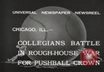 Image of push ball match Chicago Illinois USA, 1932, second 4 stock footage video 65675033275