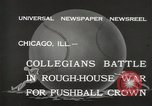 Image of push ball match Chicago Illinois USA, 1932, second 6 stock footage video 65675033275