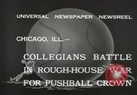 Image of push ball match Chicago Illinois USA, 1932, second 7 stock footage video 65675033275