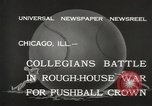 Image of push ball match Chicago Illinois USA, 1932, second 9 stock footage video 65675033275