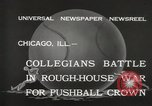 Image of push ball match Chicago Illinois USA, 1932, second 10 stock footage video 65675033275