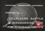 Image of push ball match Chicago Illinois USA, 1932, second 12 stock footage video 65675033275