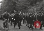 Image of British unemployed people march in protest United Kingdom, 1932, second 15 stock footage video 65675033280