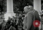 Image of Dwight D Eisenhower and Winston Churchill Washington DC USA, 1953, second 27 stock footage video 65675033296