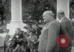 Image of Dwight D Eisenhower and Winston Churchill Washington DC USA, 1953, second 35 stock footage video 65675033296