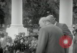 Image of Dwight D Eisenhower and Winston Churchill Washington DC USA, 1953, second 37 stock footage video 65675033296
