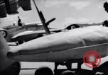 Image of 110 gallon auxiliary fuel tanks Korea, 1951, second 37 stock footage video 65675033387