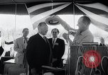Image of West German Chancellor Konrad Adenauer Stonewall Texas USA, 1964, second 23 stock footage video 65675033524