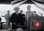 Image of West German Chancellor Konrad Adenauer Stonewall Texas USA, 1964, second 28 stock footage video 65675033524