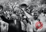 Image of West German Chancellor Konrad Adenauer Stonewall Texas USA, 1964, second 33 stock footage video 65675033524