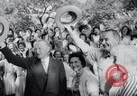 Image of West German Chancellor Konrad Adenauer Stonewall Texas USA, 1964, second 34 stock footage video 65675033524
