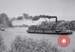 Image of Port of Stockton steamboat  Sacramento California USA, 1938, second 13 stock footage video 65675034097