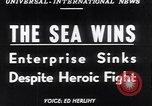Image of The SS Flying Enterprise Atlantic Ocean, 1952, second 13 stock footage video 65675034652