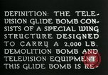 Image of Remote Controlled TV Glide Bomb United States USA, 1944, second 11 stock footage video 65675036031