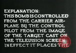 Image of Remote Controlled TV Glide Bomb United States USA, 1944, second 38 stock footage video 65675036031