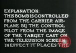 Image of Remote Controlled TV Glide Bomb United States USA, 1944, second 40 stock footage video 65675036031