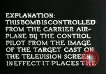 Image of Remote Controlled TV Glide Bomb United States USA, 1944, second 44 stock footage video 65675036031