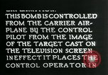 Image of Remote Controlled TV Glide Bomb United States USA, 1944, second 46 stock footage video 65675036031