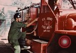 Image of 85th Engr Fire Fighters Team Lai Khe South Vietnam, 1968, second 53 stock footage video 65675037291