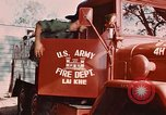 Image of 85th Engr Fire Fighters Team Lai Khe South Vietnam, 1968, second 54 stock footage video 65675037291