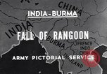 Image of British Indian 50th Parachute Division Rangoon Burma, 1945, second 7 stock footage video 65675037608