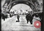 Image of Eiffel Tower Paris France, 1900, second 18 stock footage video 65675040582