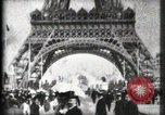 Image of Eiffel Tower Paris France, 1900, second 29 stock footage video 65675040582