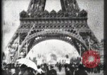 Image of Eiffel Tower Paris France, 1900, second 30 stock footage video 65675040582