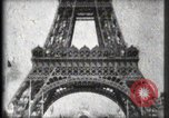 Image of Eiffel Tower Paris France, 1900, second 34 stock footage video 65675040582