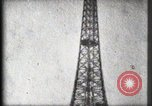 Image of Eiffel Tower Paris France, 1900, second 46 stock footage video 65675040582