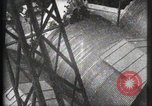 Image of Elevator ascending Eiffel Tower Paris France, 1900, second 15 stock footage video 65675040584