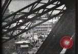 Image of Elevator ascending Eiffel Tower Paris France, 1900, second 47 stock footage video 65675040584