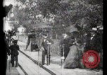 Image of Moving boardwalk Paris France, 1900, second 42 stock footage video 65675040589