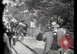Image of Moving boardwalk Paris France, 1900, second 54 stock footage video 65675040589