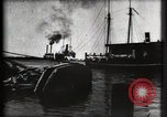 Image of water front Galveston Texas USA, 1900, second 31 stock footage video 65675040602