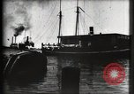 Image of water front Galveston Texas USA, 1900, second 34 stock footage video 65675040602