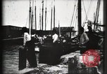 Image of water front Galveston Texas USA, 1900, second 46 stock footage video 65675040602