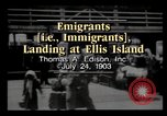 Image of Immigrants arriving at Ellis Island New York City USA, 1903, second 1 stock footage video 65675040610