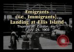Image of Immigrants arriving at Ellis Island New York City USA, 1903, second 3 stock footage video 65675040610