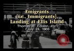 Image of Immigrants arriving at Ellis Island New York City USA, 1903, second 4 stock footage video 65675040610