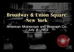 Image of Broadway and Union Square New York United States USA, 1903, second 1 stock footage video 65675040614