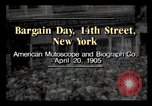 Image of Bargain Day New York City USA, 1903, second 3 stock footage video 65675040616
