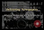 Image of Delivering newspapers New York City USA, 1903, second 1 stock footage video 65675040619