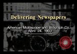 Image of Delivering newspapers New York City USA, 1903, second 2 stock footage video 65675040619