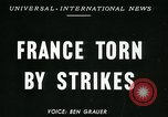 Image of Strikes Paris France, 1947, second 2 stock footage video 65675040649